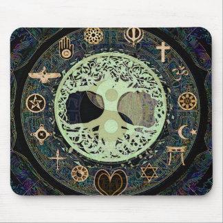Peaceful Living Yin Yang Tree of Life Mouse Mat