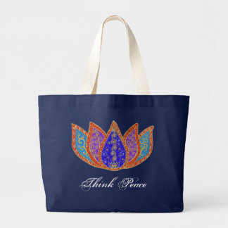 Peaceful Lotus - Jumbo Tote