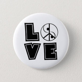 Peaceful Love 6 Cm Round Badge