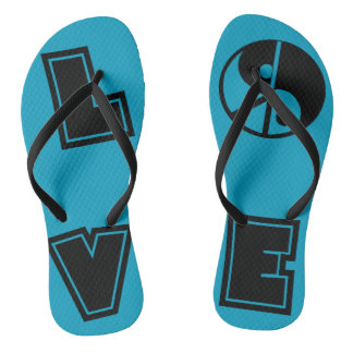 Peaceful Love Flip Flops