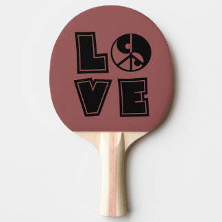 Peaceful Love Ping Pong Paddle