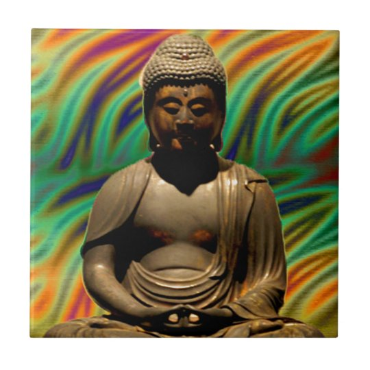 Peaceful Meditating Buddha Prints Tile