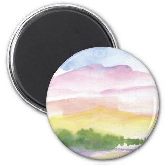 Peaceful memories refrigerator magnets
