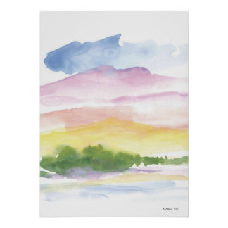 peaceful moments  Watercolor Poster