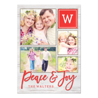 Peaceful Monogram Holiday Magnet
