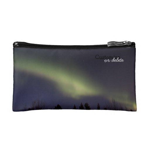Peaceful Northern Lights; Customizable Makeup Bag