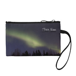 Peaceful Northern Lights; Customizable Coin Purses