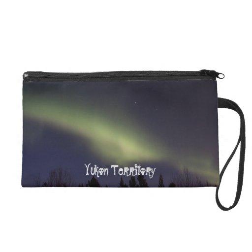 Peaceful Northern Lights; Yukon Souvenir Wristlet Clutches