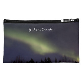 Peaceful Northern Lights; Yukon Souvenir Makeup Bag