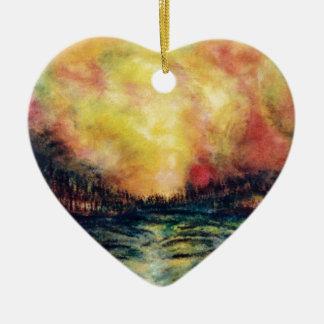 Peaceful Path Ceramic Heart Decoration