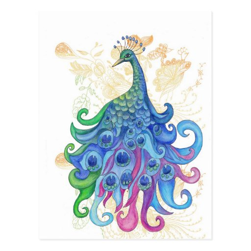 Peaceful Peacock Products Postcards
