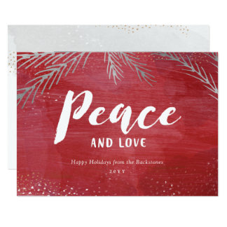 Peaceful Pines Holiday Card