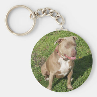Peaceful Pitbull Key Ring