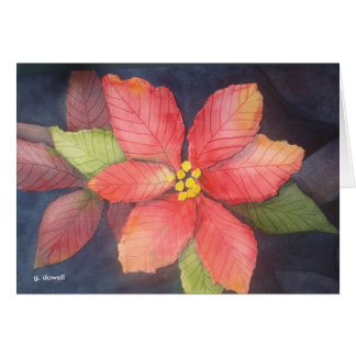 Peaceful Poinsettia Card
