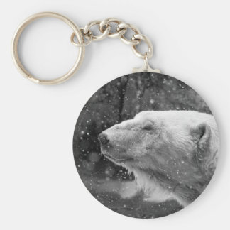 Peaceful Polar Bear Key Ring