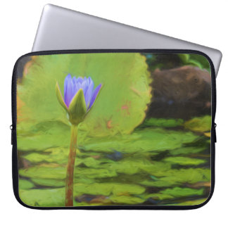 Peaceful Pond- Water Lily Laptop Sleeve