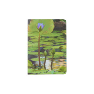 Peaceful Pond Water Lily Passport Holder