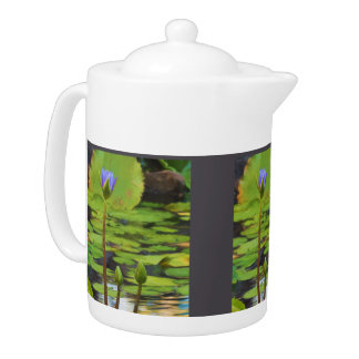 Peaceful Pond- Water Lily Teapot