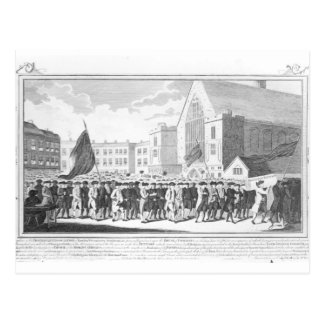 Peaceful Procession of the Members of Protestant Postcard
