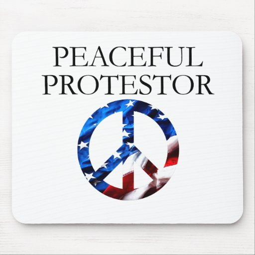 Peaceful Protestor Mousepads