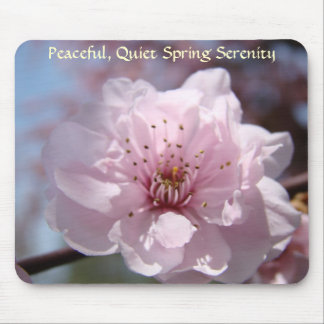 Peaceful Quiet Spring Serenity Mousepad Blossoms
