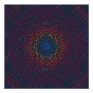 Peaceful Radiance Kaleidoscope Mandala Personalized Invitation