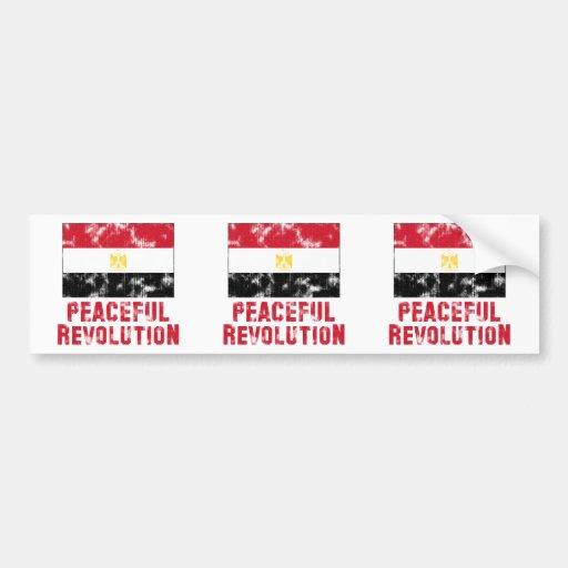 Peaceful Revolution Vintage Bumper Sticker