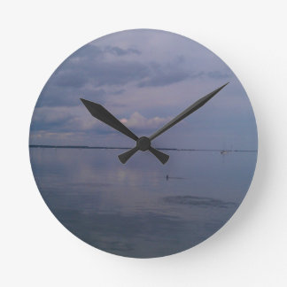 Peaceful River Dolphins Round Clock