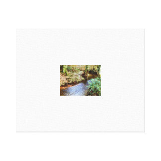 Peaceful River Scene Stretched Canvas Print