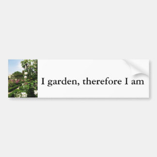 Peaceful Rose Garden Car Bumper Sticker
