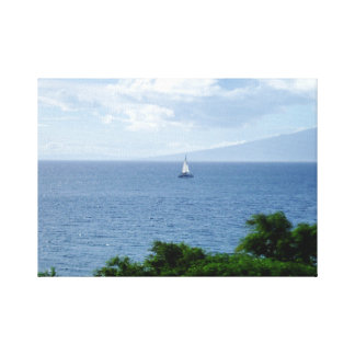 Peaceful Sailboat photograph Gallery Wrapped Canvas