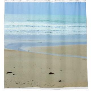 Peaceful Sandy Beach Shower Curtain