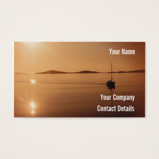 Peaceful Scilly Isles Sunset Cornwall England Card