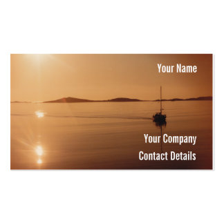 Peaceful Scilly Isles Sunset Cornwall England Card Pack Of Standard Business Cards