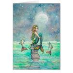 Peaceful Sea Mermaid and Fish Fantasy Art Cards