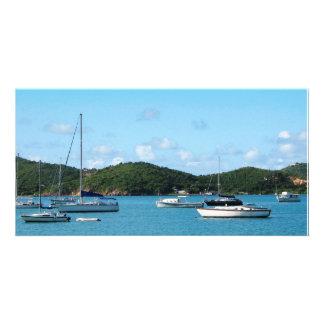 Peaceful Sea St. Thomas Custom Photo Card