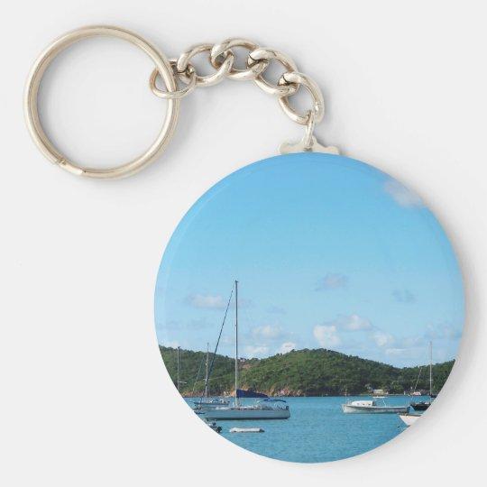 Peaceful Sea St. Thomas Key Ring