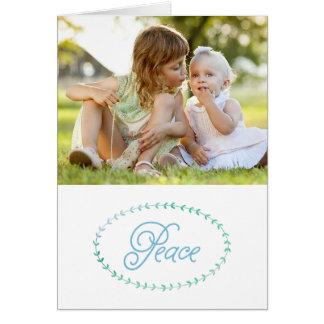 Peaceful Simplicity Christmas Photo Greeting Card