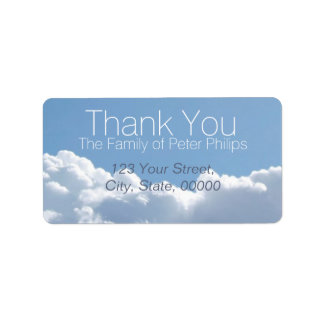 Peaceful Sky 2 Family Thank You Address Label