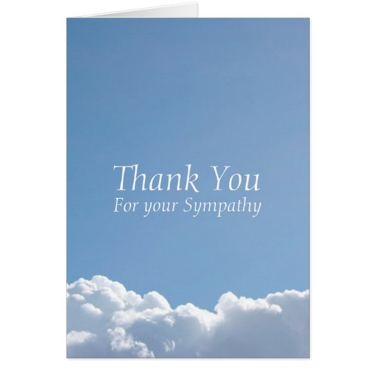 Peaceful Sky 3 Sympathy Thank You Card