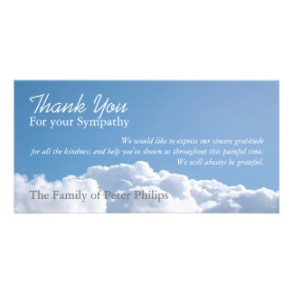 Peaceful Sky H1 Sympathy Thank You Photo Card
