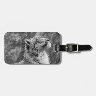 Peaceful Snow Leopard Luggage Tag