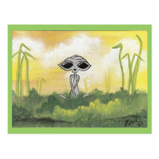 Peaceful Summer Alien Postcards