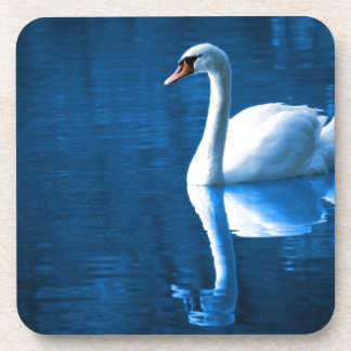 Peaceful Swan Beverage Coasters