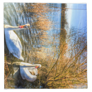 Peaceful Swans Napkin