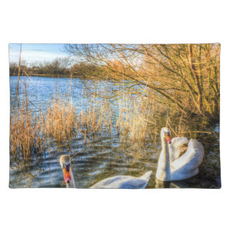 Peaceful Swans Placemat