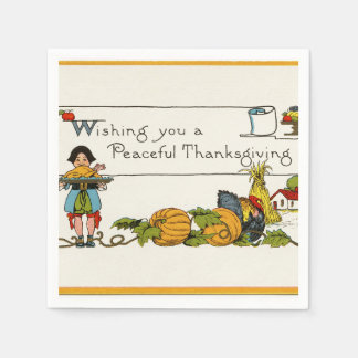 Peaceful Thanksgiving Disposable Napkins