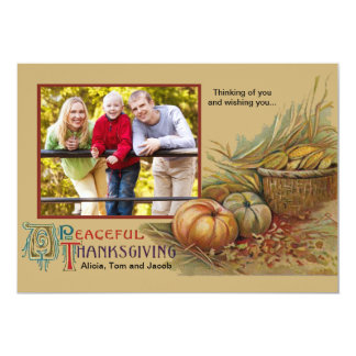 Peaceful Thanksgiving Photo Card Personalized Invitations