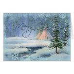 PEACEFUL TIPI CHRISTMAS by SHARON SHARPE Greeting Card