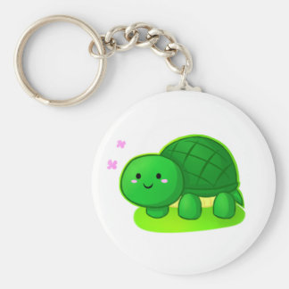 Peaceful Turtle Basic Round Button Key Ring